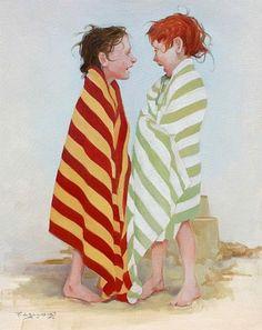 Verano, playa - Ilustración Fred Calleri*