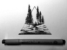 Tattoo • Triangle & Landscape • By Derek Myers •