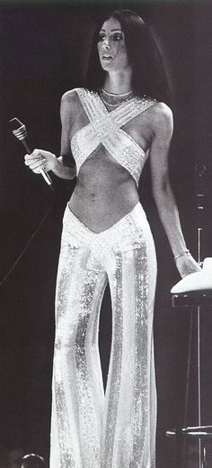 Cher, 1970's. ☚ good ol cher  sure had fun with costumes made by george mackie...2013 she still looks good...