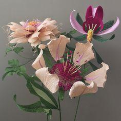 Crepe Paper Fantasy Flower Single Stem Original Botanical