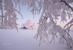 Belogorsky Monastery - Belogorsky Monastery, Perm region, Urals, Russia, -30C, January 2016