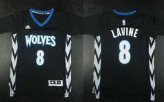 Minnesota Timberwolves #8 Zach LaVine Revolution 30 Swingman 2014 New Black Jersey