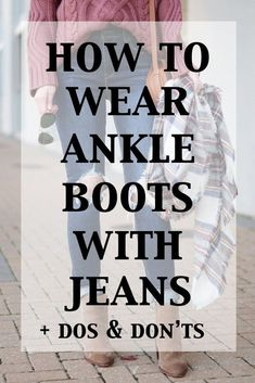 Ankle boots are my JAM. Sometimes they can be tricky though so today I am breaking down how to wear ankle boots with jeans. So much info in this post! con botines How to Wear Ankle Boots with Jeans - The Dos & Don'ts - Straight A Style Ankle Boots With Jeans, How To Wear Ankle Boots, Cuffed Jeans, Harem Jeans, Denim Leggings, Women's Jeans, Jeans Shoes, Ankle Boots Outfit Winter, Casual Jeans