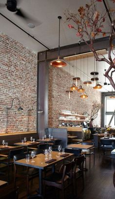 Dining Design Diary: Go Inside SF's Romantic AQ Restaurant Bar Interior Design, Commercial Interior Design, Cafe Interior, Cafe Design, Luxury Interior, Design Bar Restaurant, Deco Restaurant, Pizza Restaurant, Luxury Restaurant