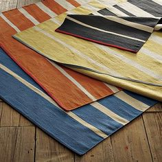 stripe rug for laundry room at great price  #WilliamsSonoma