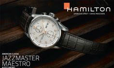 Beautiful and classic. American Spirit, Hamilton, Lancaster, Omega Watch, Chronograph, Catalog, Watches, Classic, Accessories