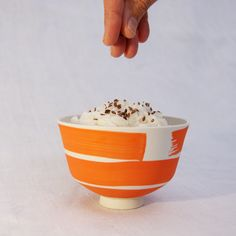 Rice bowl by M.S.G. Ceramique French Lifestyle, Rice Bowls, Scandinavian Interior, Side Dishes, Artisan, Meals, Tableware, Beautiful, Dinnerware