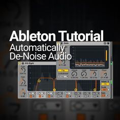 Create a de-noise module without party plug-ins Music Studio Room, Studio Setup, Techno, Music Software, Recording Studio Home, Ableton Live, Background Noise, Music Production, Video Production