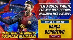 Tickets FCB - Deportivo #FCBarcelona #Tickets #CampNou #Game #Match