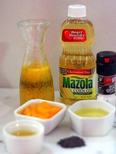 ingredientes para la vinagreta de mandarina Trans Fat, Cholesterol, Pure Products, Healthy, Angela, Food, Pastel, Homemade Salsa, Spice