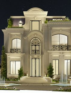 Magnificent Private Palace and Villa Design Villa Design, Interior Design Dubai, Interior Design Companies, Modern Interior, Interior Ideas, Villa Plan, Conception Villa, Architecture Design, Facade House