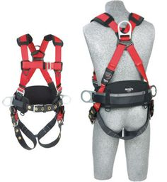 Protecta PRO™ Construction Harness - Back & Side D-Rings with Tongue Buckle Legs