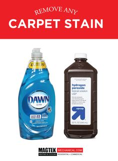 Ditch all your store bought cleaners & use Dawn & Hydrogen Peroxide to remove carpet stains. #CleaningHack #Magtek