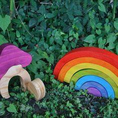 Rainbow Stacker Rainbow, Play, Unique Jewelry, Handmade Gifts, Nature, Vintage, Rain Bow, Kid Craft Gifts, Rainbows