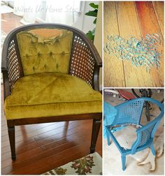How to Reupholster a Chair = I have a similar chair that is in very good condition, but I want to change the fabric. This tutorial should be useful.