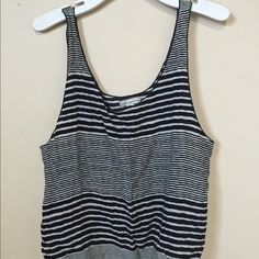 Cropped Striped Scoop Tank Top This tank top is so light weight, so comfortable and the cropped length is adorable. It's in perfect condition and you'll love it. American Eagle Outfitters Tops Tank Tops