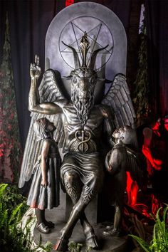 Solid bronze Baphomet monument unveiled at Detroit chapter of The Church Of Satan.