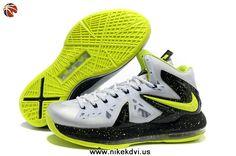 the best attitude 96f29 51eb5 Nike Air Max LeBron James X Elite White Black Green Basketball shoes