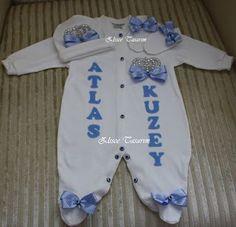 bebek tulum seti, hastane çıkışı, tulum seti süsleme, hastane çıkışı süsleme, doğum