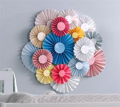 Rosette home decor wall art or party decor. Make It Now in Cricut Design Space