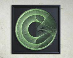 Wall Art Zen Large String Art Mandala in Brown & by FeniksArtDeco