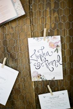 Hand lettered wedding invitations // photo by Ian Bicknell