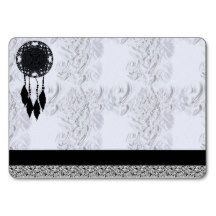 dream catcher, feather business cards chubby business cards
