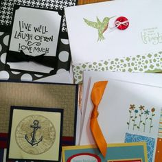 Stampin Up cards!