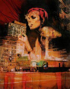 Liz Brizzi, Smoke and Mirrors, mixed media Mixed Media Painting, Mixed Media Collage, Mixed Media Techniques, Smoke And Mirrors, Environmental Art, Double Exposure, Fine Art Paper, Original Artwork, Art Projects