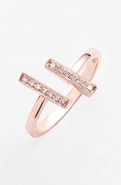 Dana Rebecca Designs 'Sylvie Rose' Diamond Open Ring $495.00