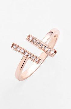 Dana Rebecca Designs 'Sylvie Rose' Diamond Open Ring $495.00