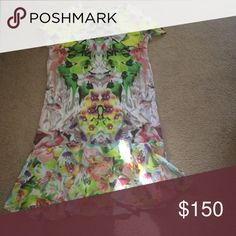 Floral short sleeve dress Short sleeve dress only worn once excellent condition Prabal Gurung Dresses Midi