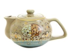 Scenes from nature teapot, $26.00, catalog of St Elisabeth Convent. #pottery…