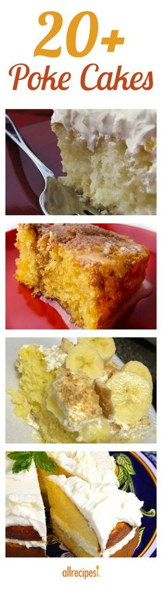 The best collection of Poke Cake recipes! 20+ poke cakes that are easy to make and fun to adapt to your taste.