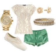 green & lace