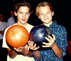 Tobey Maguire and Leo DiCaprio