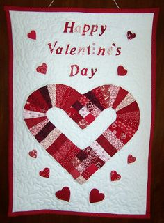 Valentine's Heart Quilted Wall Hanging