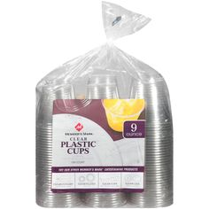 Use 9oz Solo Cups (or generic such as Member's Mark Clear Plastic Cups at Sam's Club) for lunch size jellos, puddings and salads (sealed with press n seal wrap)  Can be used multiple times and recycled once out of shape.
