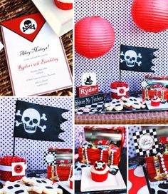 Una fiesta inspirada en Piratas del Caribe.  aAparty inspired by Pirates of the Caribbean