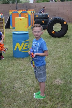 Prepare for battle…a Nerf battle, that is. Arm yourself with these 19 incredible Nerf birthday party ideas, and you'll be on target for one awesome Nerf-inspired celebration. Find suggestions for creating a Nerf cake, cookies, Nerf Birthday Party, Nerf Party, Boy Birthday, Birthday Ideas, Nerf Gun Cake, Laser Tag Party, Party Ideas, Birthdays, Letters