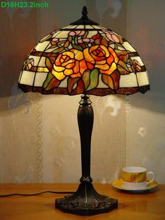 Rose Tiffany Lamp 16S0-265T327