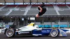 Stuntman Performs a Blind Backflip Over a Formula E Race Car (Video) - Suburban…