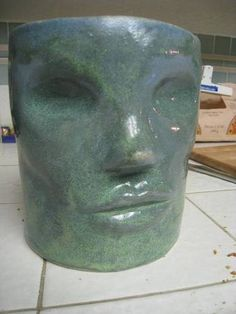 From the Craftster Community: ceramic face flowerpot - POTTERY, CERAMICS, POLYMER CLAY