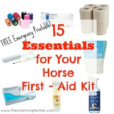 Emergencies are never fun to prepare for BUT you need these 15 essentials for your horse first aid kit. And I've included a handy free printable!