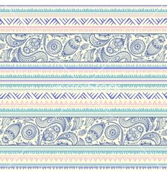 Tribal vintage geometric paisley background vector by transia on VectorStock®