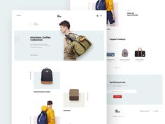 Backpack Store Site Concept by Logan Cee #Design Popular #Dribbble #shots