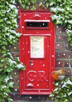 Lisa Alderson   Advocate Art Christmas Poster, Christmas And New Year, Christmas Time, Christmas Ornaments, Christmas Ideas, Christmas Crafts, Vintage Christmas Cards, Xmas Cards, Vintage Mailbox