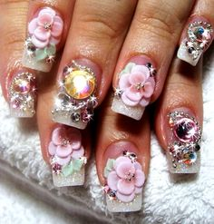 Cute 3D nail art design..