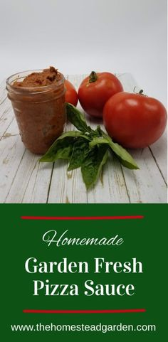 Homemade Garden Fresh Pizza Sauce Recipe: Perfect for a small batch of tomatoes! Use some garden produce and simmer some pizza sauce on your stove for a delicious home-cooked meal. This tasty pizza sauce recipe makes enough sauce for two pizzas. Sauce Recipes, Real Food Recipes, Cooking Recipes, Healthy Recipes, Cooking Tips, Tomato Pizza Sauce, Comfort Food, Breakfast Pizza, Tasty