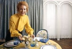 Big occasions: Hosts in the Seventies and Eighties used dinner parties as a chance to show off their culinary prowess - and their stylish homes